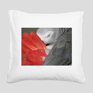 Elegant Grey Square Canvas Pillow