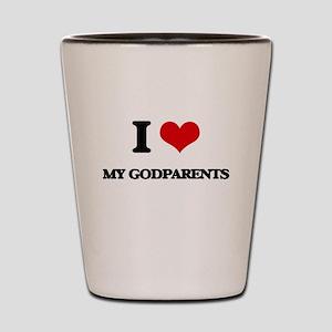 I Love My Godparents Shot Glass