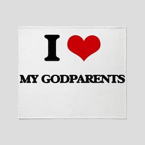 I Love My Godparents Throw Blanket