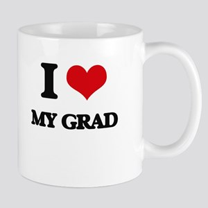 I Love My Grad Mugs