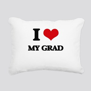 I Love My Grad Rectangular Canvas Pillow
