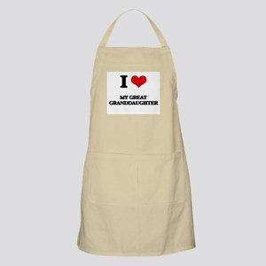 I Love My Great Granddaughter Apron