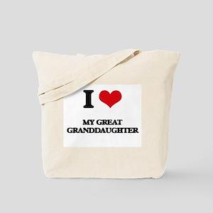I Love My Great Granddaughter Tote Bag