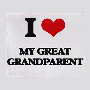 I Love My Great Grandparent Throw Blanket