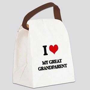 I Love My Great Grandparent Canvas Lunch Bag