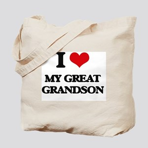 I Love My Great Grandson Tote Bag