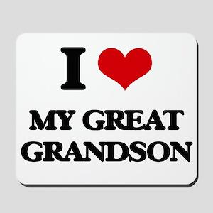 I Love My Great Grandson Mousepad