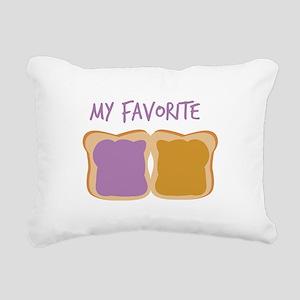 My Favorite Rectangular Canvas Pillow