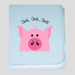 Oink Oink baby blanket