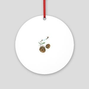 Winter Pine Cone Ornament (Round)