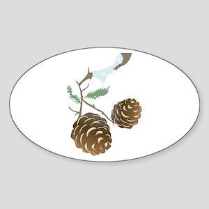 Winter Pine Cone Sticker
