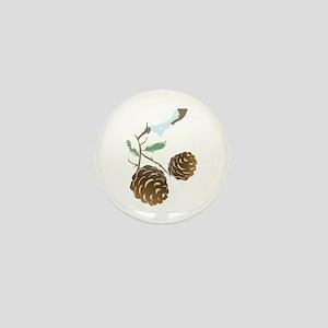 Winter Pine Cone Mini Button