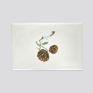 Winter Pine Cone Magnets