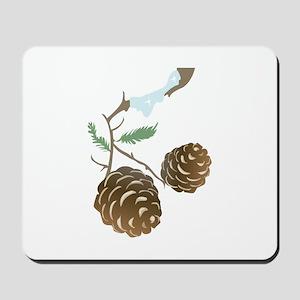 Winter Pine Cone Mousepad