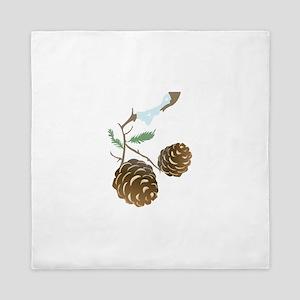 Winter Pine Cone Queen Duvet