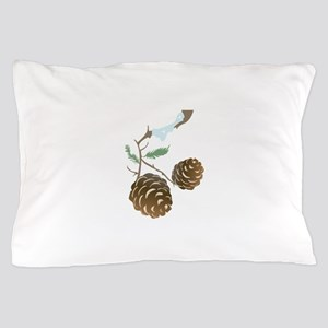 Winter Pine Cone Pillow Case