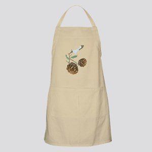 Winter Pine Cone Apron