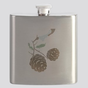 Winter Pine Cone Flask
