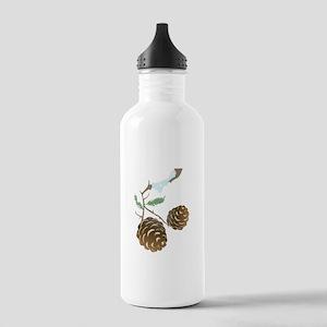 Winter Pine Cone Water Bottle