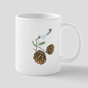 Winter Pine Cone Mugs