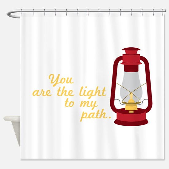 Light My Path Shower Curtain
