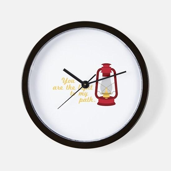 Light My Path Wall Clock