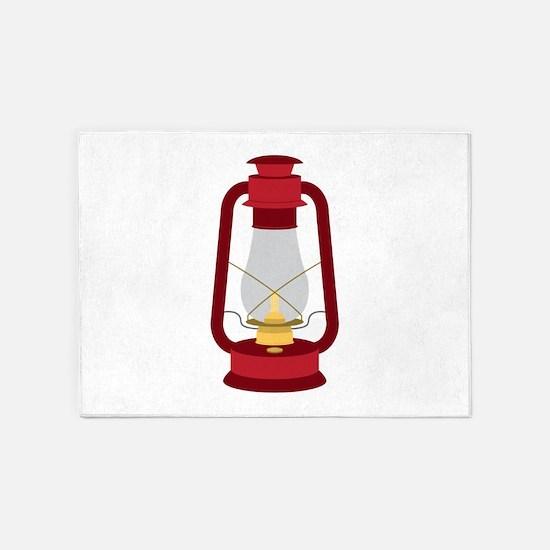 Kerosene Lamp 5'x7'Area Rug