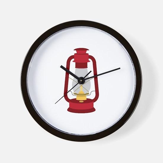 Kerosene Lamp Wall Clock