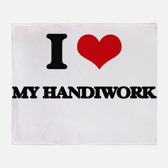I Love My Handiwork Throw Blanket