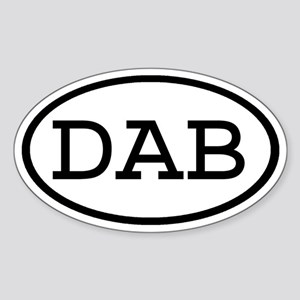 DAB Oval Oval Sticker