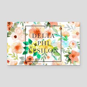 Delta Phi Epsilon Floral Rectangle Car Magnet