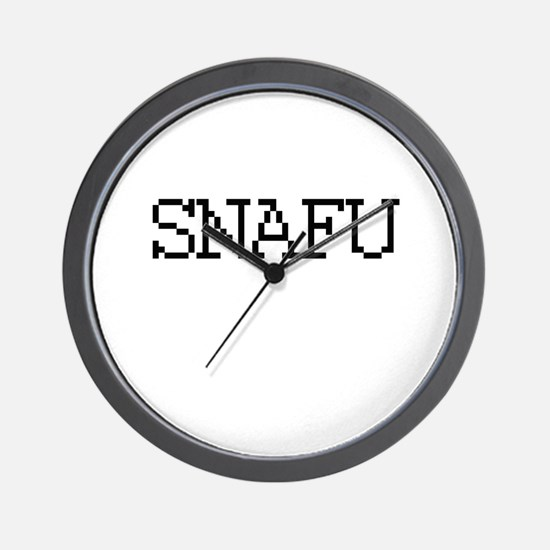 SNAFU - Situation Normal all fucked up Wall Clock