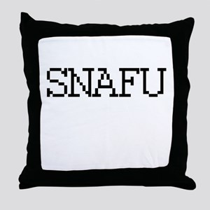 SNAFU - Situation Normal all fucked up Throw Pillo