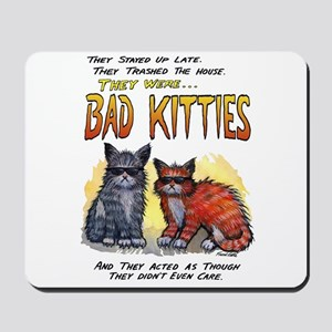 11by14badkities Mousepad