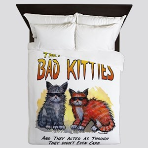 11by14badkities Queen Duvet