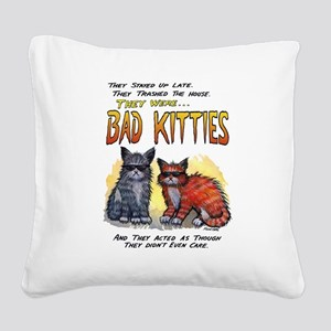 11by14badkities Square Canvas Pillow
