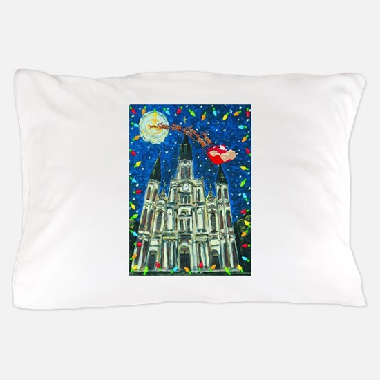 New Orleans Christmas Pillow Case