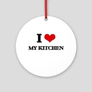 I Love My Kitchen Ornament (Round)
