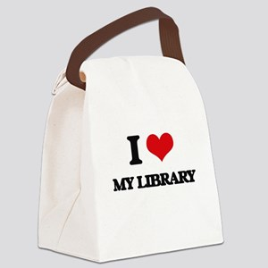 I Love My Library Canvas Lunch Bag