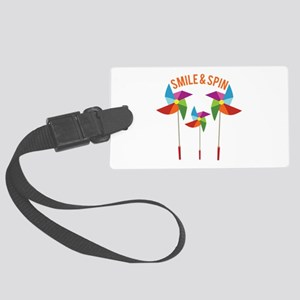 Smile & Spin Luggage Tag