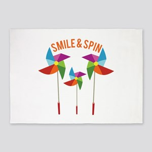 Smile & Spin 5'x7'Area Rug