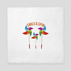 Smile & Spin Queen Duvet