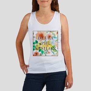 Delta Phi Epsilon Floral Women's Tank Top
