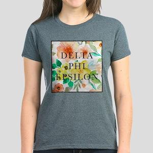 Delta Phi Epsilon Floral Women's Dark T-Shirt