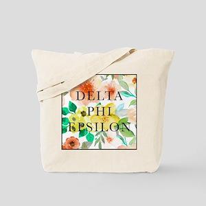 Delta Phi Epsilon Floral Tote Bag