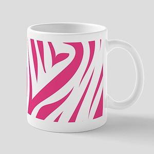 Pink Zebra Print Mug