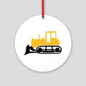 Bulldozer Ornament (Round)