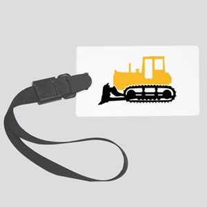 Bulldozer Large Luggage Tag
