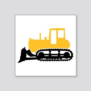 "Bulldozer Square Sticker 3"" x 3"""