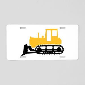 Bulldozer Aluminum License Plate